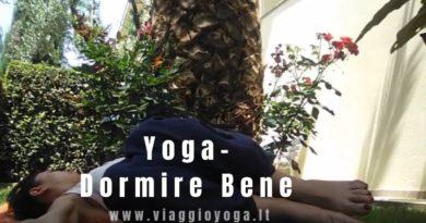 dormire bene attraverso yoga