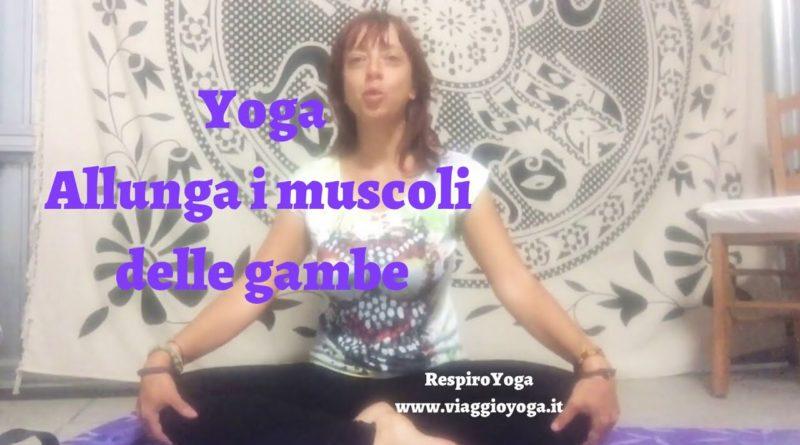 Yoga gambe toniche